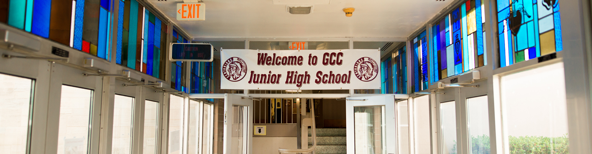 students in school banner